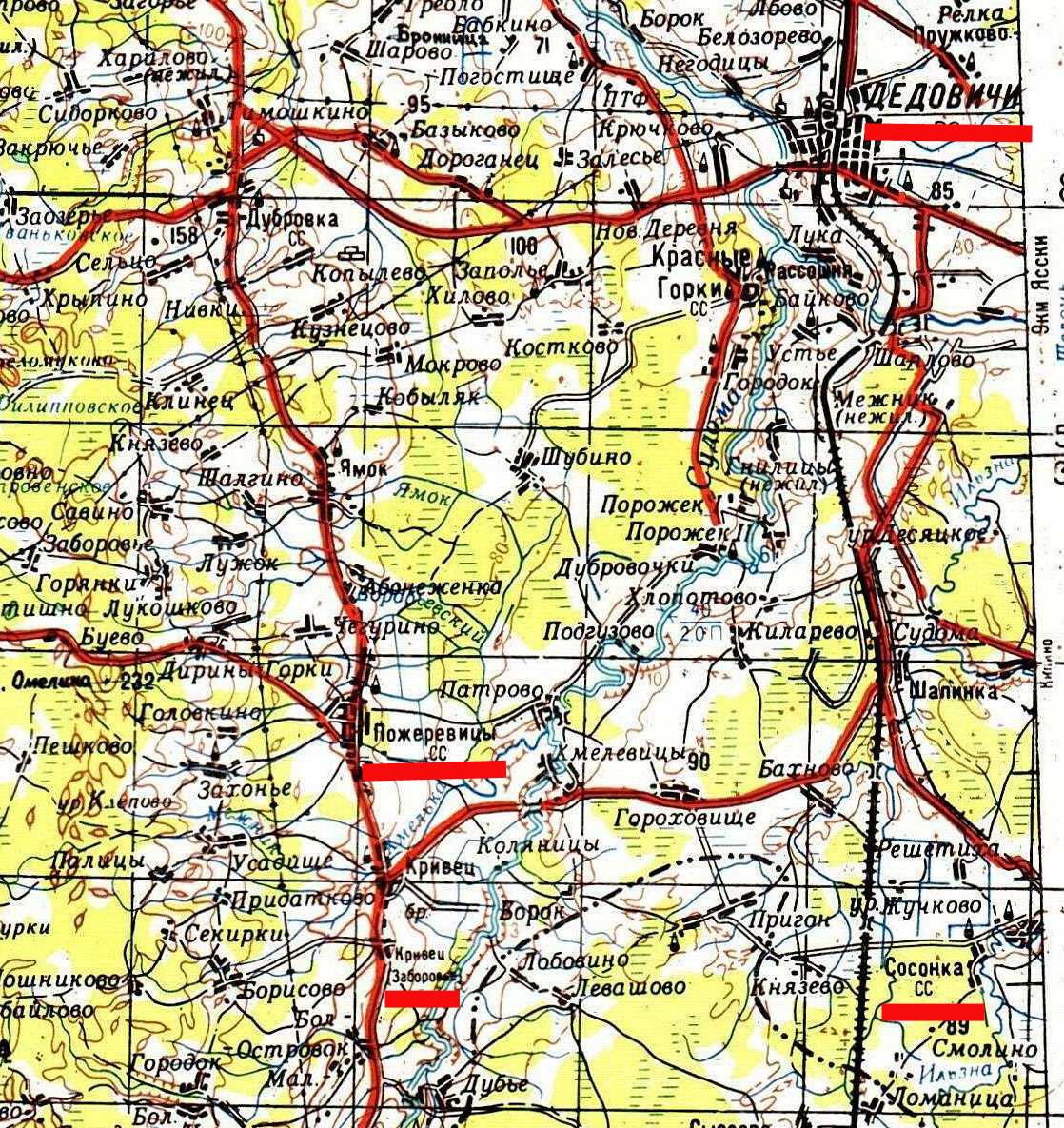 Проскуровский Уезд Карта